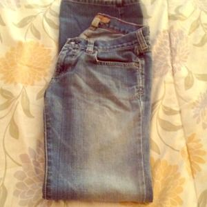 Abercrombie & fitch distressed faded jeans
