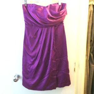 NWT Strapless purple dress by The Limited