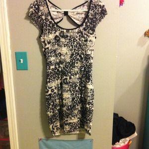 Leopard print form-fitting dress