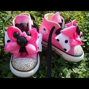 Minnie Mouse converse blinged out any size u want