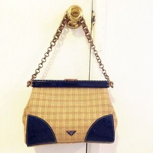 c58df74be0e Prada Bags   Paglia Straw Bag Croc Gold Chain   Poshmark
