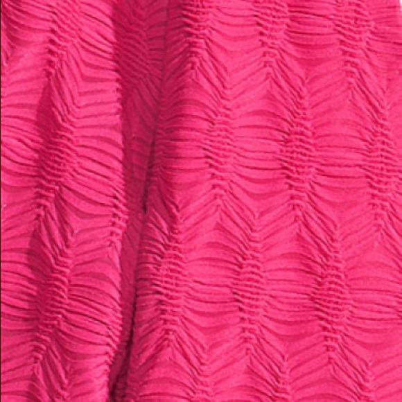H&m Hot Pink Fitted Dress
