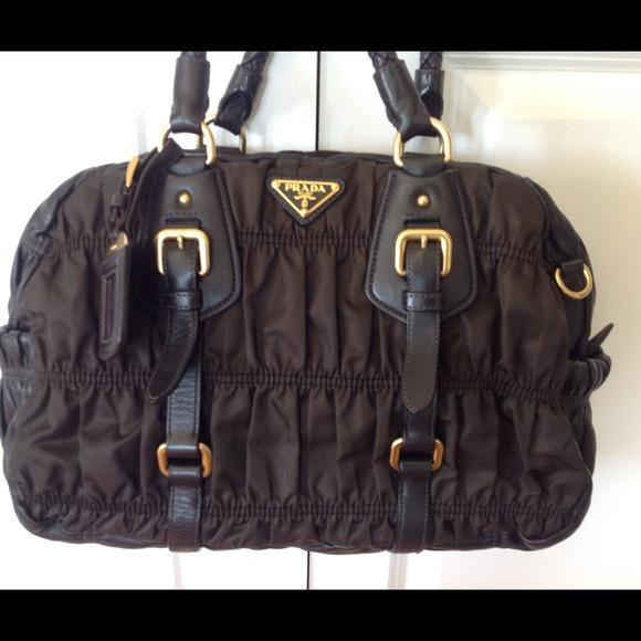 b59381be3f34 Prada Bags   Sold Sold Tessuto Gaufre Brown Tote   Poshmark