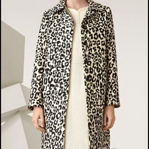 Chloe Leopard Print Single-breasted Coat. 4/36 NWT