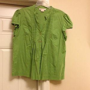 Green michael kors top