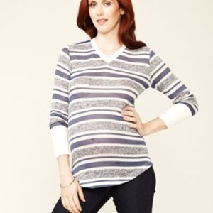 NOM maternity striped sweater
