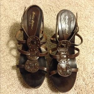 Sotto Sopra Shoes - Gorgeous Brown Leather Sandal Heels