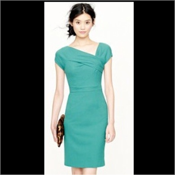 J Crew Dresses Skirts J Crew Origami Dress In Green Poshmark