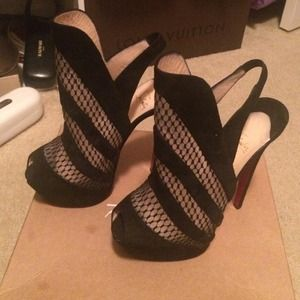 Christian louboutin bootie sling back