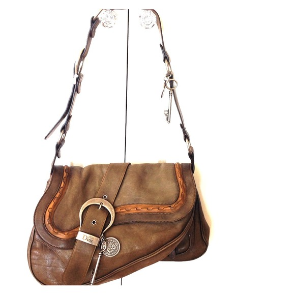 Christian Dior Gaucho Large Double Saddle Bag
