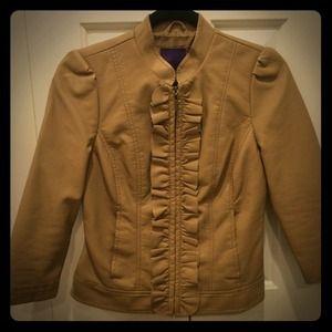 Faux tan leather jacket