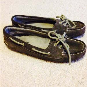 Sperry Top-Sider Shoes - Gray suede Sperrys