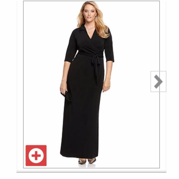 61% off Dresses &amp Skirts - Plus Size Black Maxi Dress from ...
