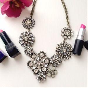 Crystal bouquet Statement necklace