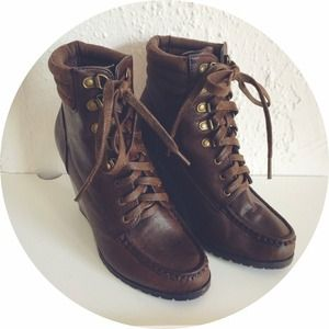 Forever 21 Shoes - Lace-Up Wedge Booties 1