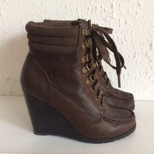 Forever 21 Shoes - Lace-Up Wedge Booties 2