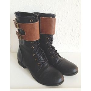 Ankle Strap Combat Boots