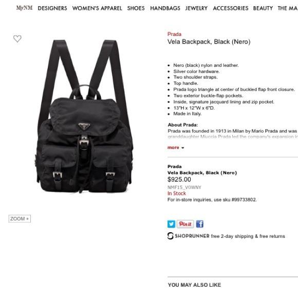 prada saffiano bag replica - 78% off Prada Handbags - My Prada Vela Sport in Nero (black) from ...