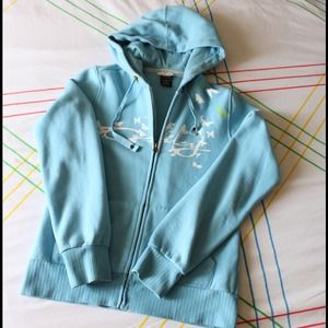 Baby Blue Okley Zip Up Hoodie