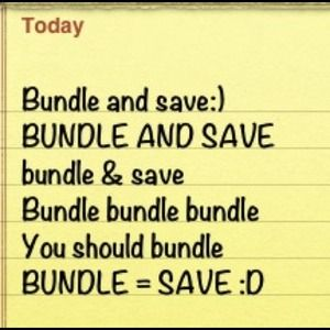 BUNDLE & SAVE !!!