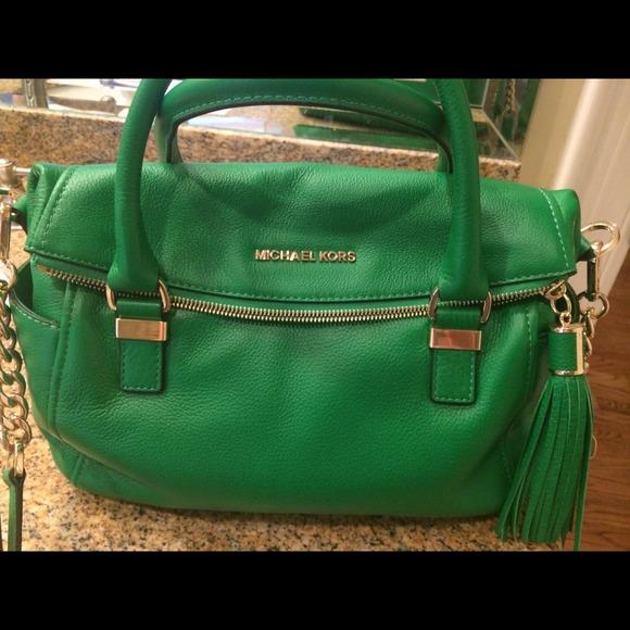57% off MICHAEL Michael Kors Handbags - Michael Kors Kelly green ...