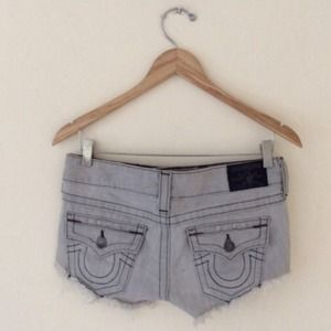 True religion Joey cut off denim shorts 28
