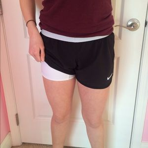 66 off nike pants black nike shorts with white built in spandex from megan kaitlyn 39 s closet. Black Bedroom Furniture Sets. Home Design Ideas