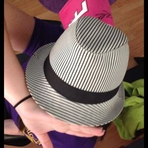 Black and White Striped Hat