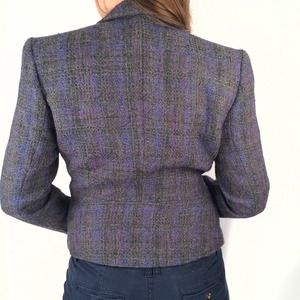 Saks Fifth Avenue Jackets & Coats - Purple & Grey Tweed Blazer
