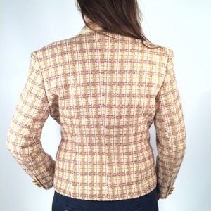 Vertigo pour la ville Paris Jackets & Coats - Vertigo Paris Pink/Orchid Tweed Boucle Blazer