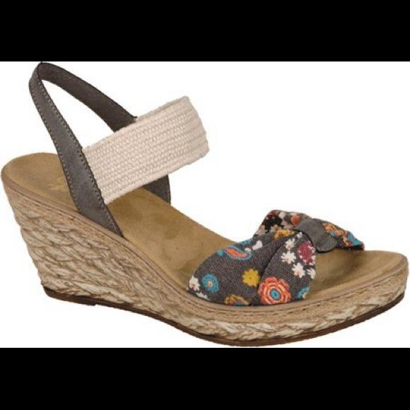 54cae8336 Rieker Thalia wedge sandal. M 542aff77d13a070cc921a40a