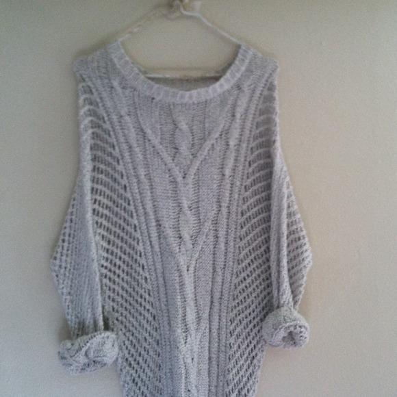 Iets Nieuws Brandy Melville Sweaters   Oversized Knit Sweater   Poshmark @OP07