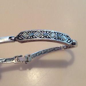 """Jewelry - Silver & Stone Bracelet 7.5"""""""