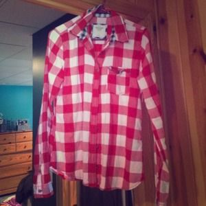 youth large Abercrombie and Fitch flannel