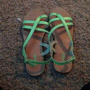 Seafoam green sandals