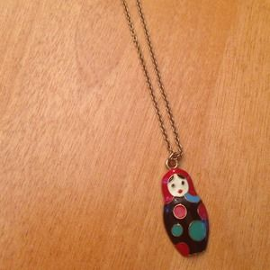 Russian nesting doll necklace