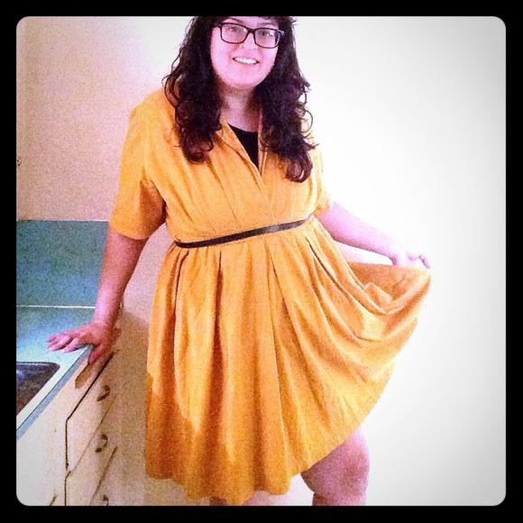 Eshakti Dresses Plus Size 24 Mustard Yellow Classic Dress Poshmark