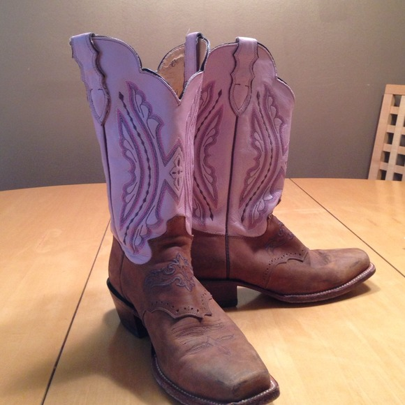 77% off Justin Boots - ****** SOLD ****Pink and brown Justin