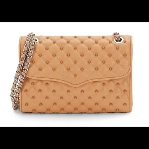 REBECCA MINKOFF Beige Affair Studded Quilted Bag