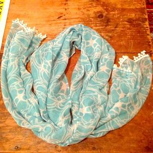 Blue And White mudpie Scarf