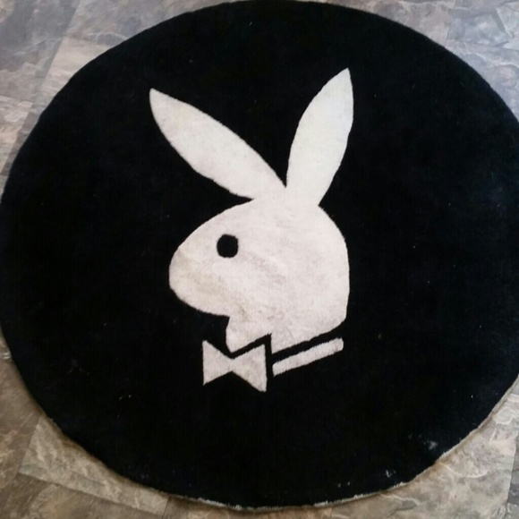 Playboy Other Round Rug Black And White Poshmark