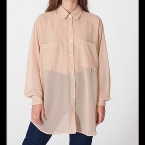 American Apparel Tops - American Apparel Oversized Chiffon Button Up