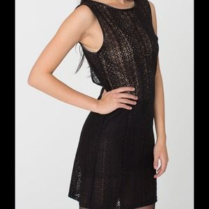 American Apparel Dresses & Skirts - American Apparel Scoop Back Lace Dress