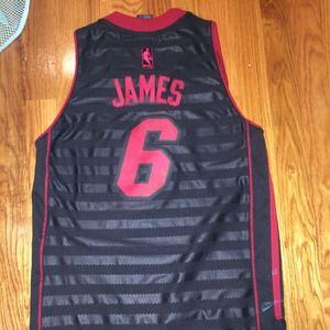pretty nice c2ce2 ba839 Miami heat nba official lebron James jersey boys m