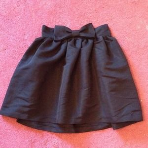 black urban outfitters skirt with bow