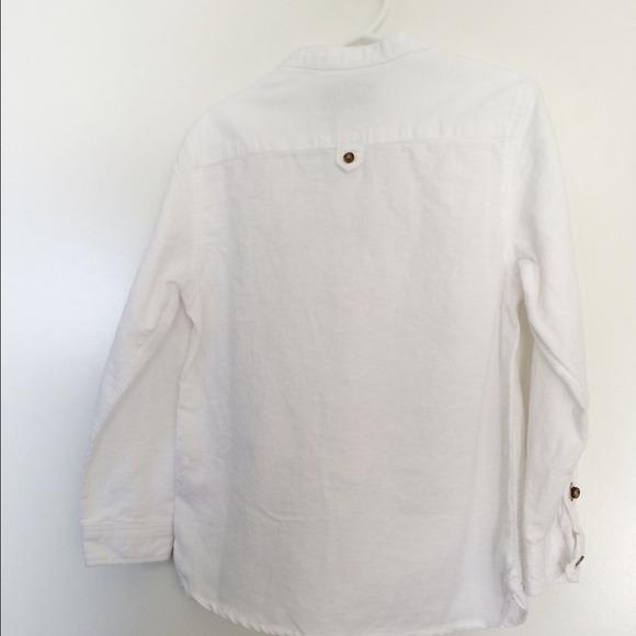 Zara - Kids white long sleeve button down shirt from Rodica's ...