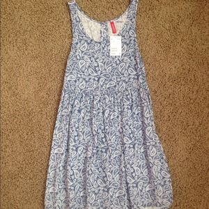 H&M Blue and White Paisley Dress