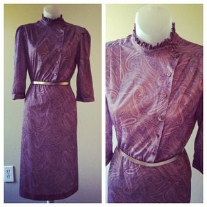 Light purple paisley dress