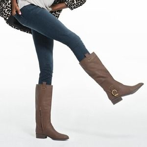 JustFab Brown Boots W/ Buckle