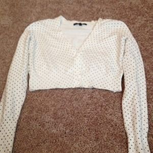 Long sleeve half cardigan